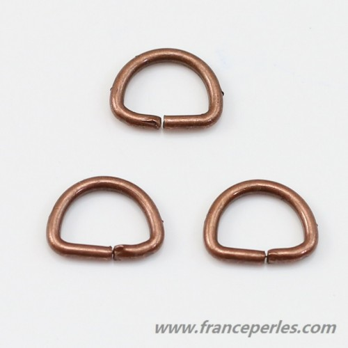 Half round copper ring 6 * 8.5mm x 8g