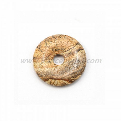 Picture Jasper donut 30mm*6mm*4.8mm