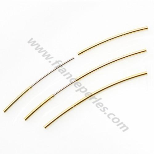 Fermoirs à enclenchement plaqué or pour fil métallique 0.7mm X 1pc