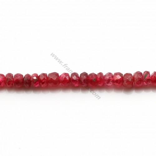 Spinelle Rouge rondelle facette dégradé 2.2-4.2mm x 34cm