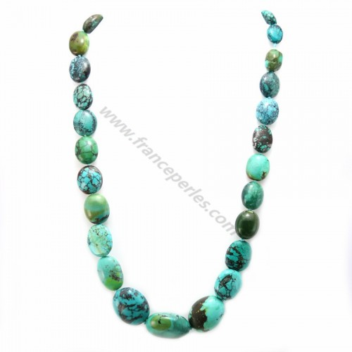Collier simple turquoise oval