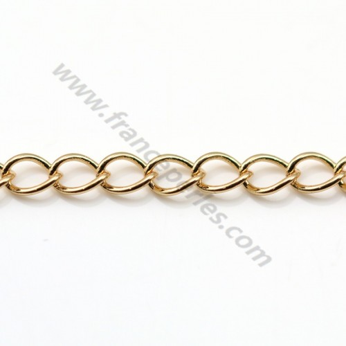 Chain curb chain golden flash 3mm x 1M