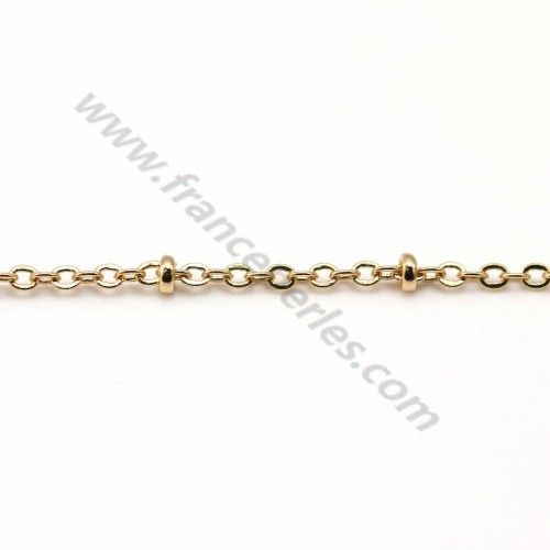 Chain fancy stitch rolls golden flash 1.5*2mm x 1M