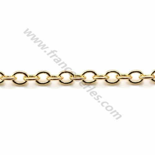 Oval chain golden flash  1.4*1.9mm x 1M