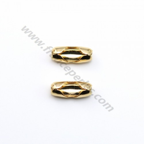 "Ball chaine terminators 1.5mm plated by ""flash"" Gold on brass x 10pcs"
