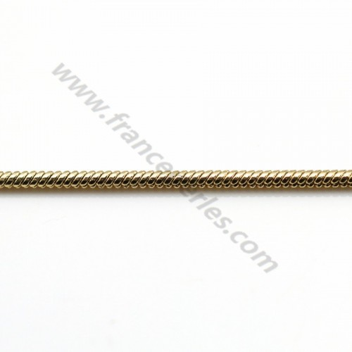 Snake chain golden flash 1mm x 1M