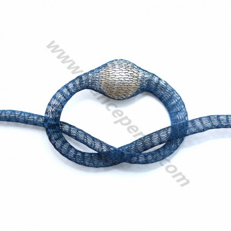 Wire mesh 6mm navy blue x 91.4cm