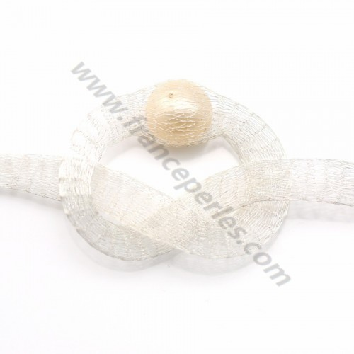 Wire mesh 6mm white x 91.4cm