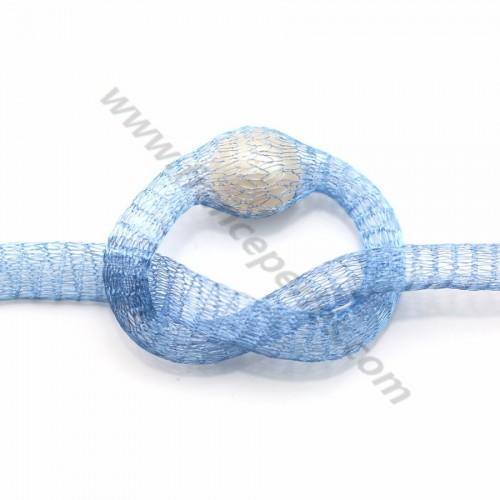 Résille tubulaire 6mm bleu clair x 91.4cm
