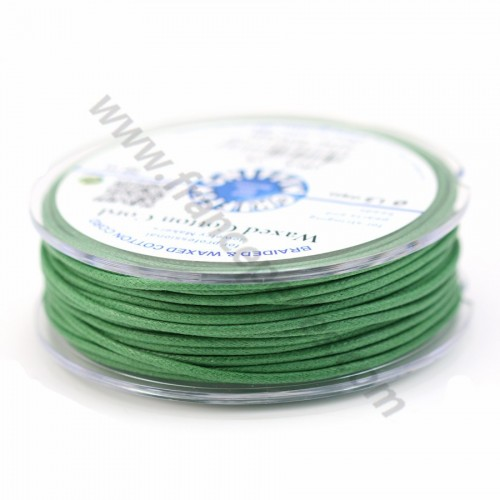 Olive waxed cotton cords 2.5mm x 5m