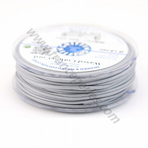 Grey waxed cotton cords 2.0mm x 5m