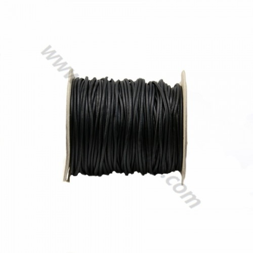 Natural rounded buffalo leather cord 2.5mm x 1m