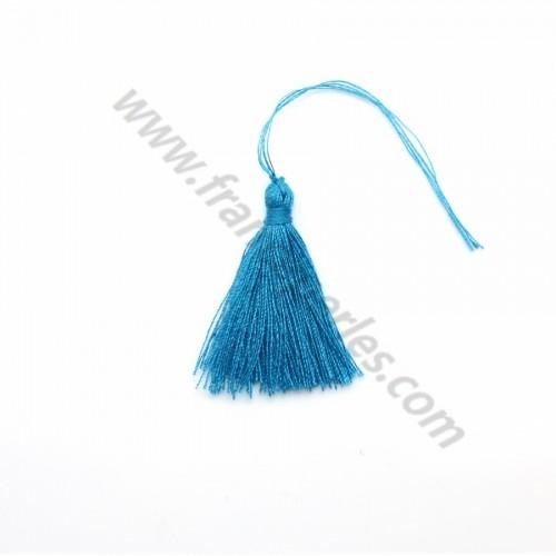 Blue pompon in cotton 30mm x 1pc