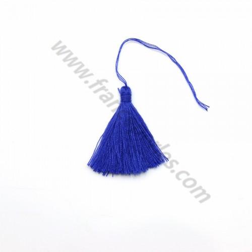 Pompon en coton bleu foncé 30mm x 1pc
