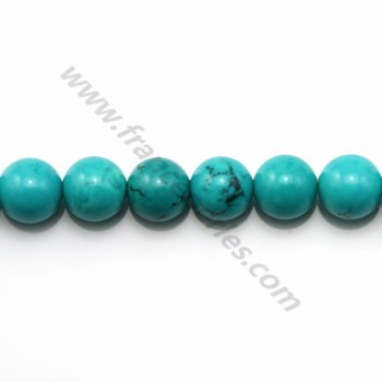 Turquoise green treated round 8mm x 40cm