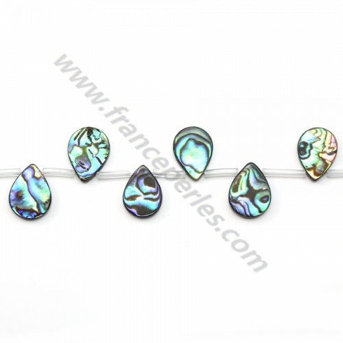 Gray Nacre Flat Teardrop 12*16mm X 40 cm
