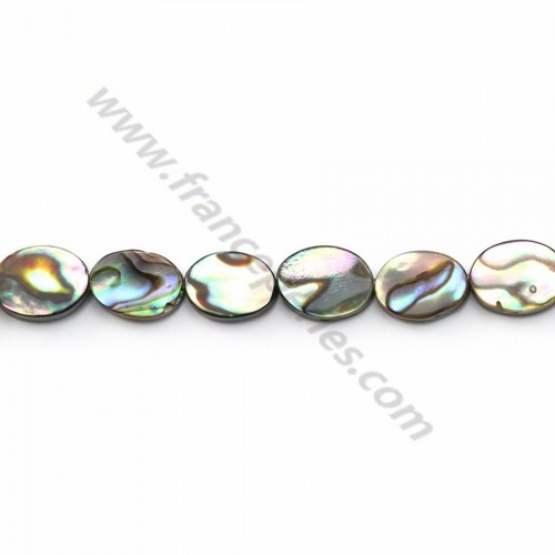 Abalone mother-of-pearl oval beads on thread 6x8mm x 40cm
