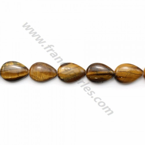 Tiger's eye flat drop 13*18mm x 40cm