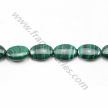 Malachite ovale 8*12mm x 40cm