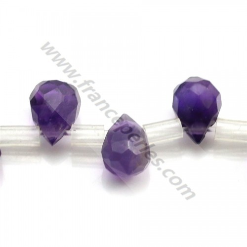 Clear amethyst oval 10*14mm x 40cm