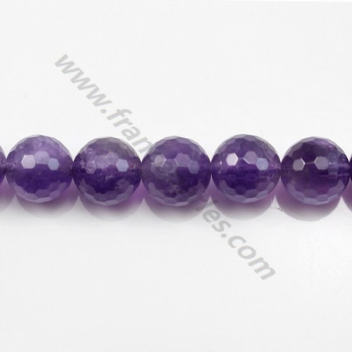 Amethyst faceted round 16mm x 40cm