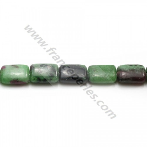Ruby zoisite faceted drop 6*8mm x 40cm