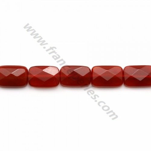 Red agate rounded square 8mm x 40cm
