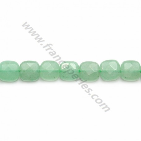 Aventurine faceted square 6mm x 40cm