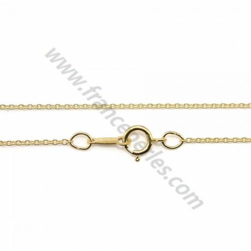 Chaîne Gold Filled 14 carats ovale 1.1mm 45cm  X 1pc