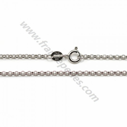 Jaseron links necklace sterling silver 925 2mm x 40cm