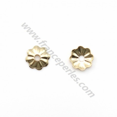 Coupelle fleur en gold filled 14 carat 4mm x 10pcs