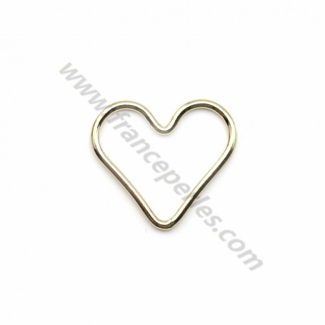 14k gold filled flat heart shaped spacers 15mm x 1pc