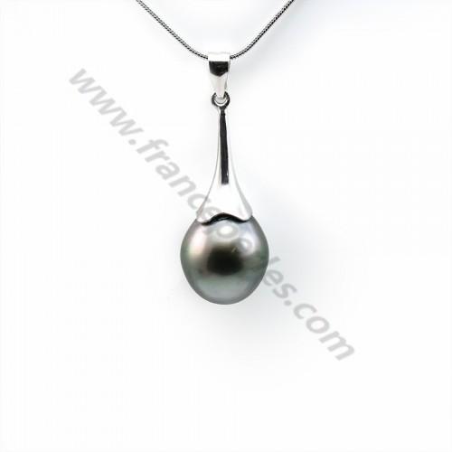 Pendant tahiti pearl & straling silver 925  12x15mmx 1pc