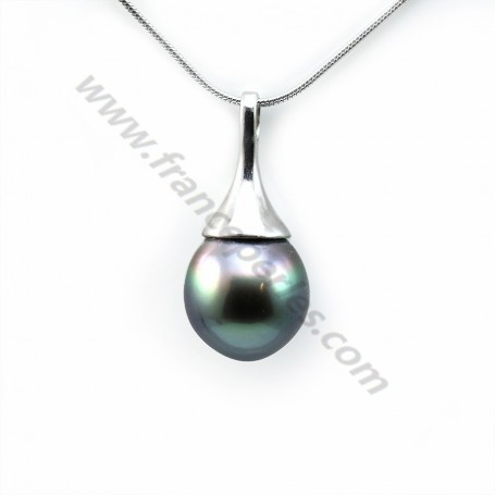 Pendant tahiti pearl & straling silver 925  11x23.5mmx 1pc