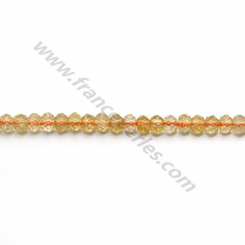 Citrine faceted rondelle 3.5*4.5mm x 40cm