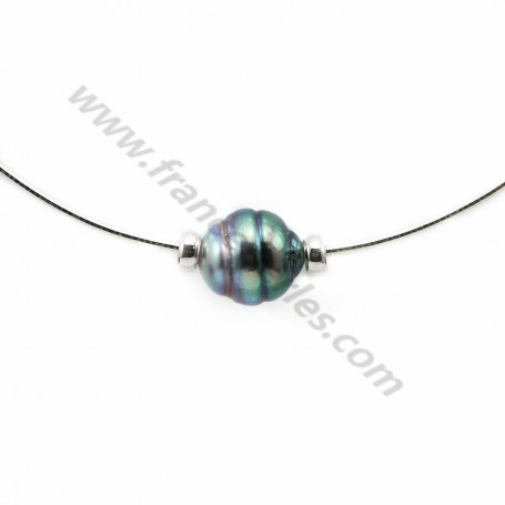 Necklace  tahiti pearl straling silver 925 40cm  x 1pc