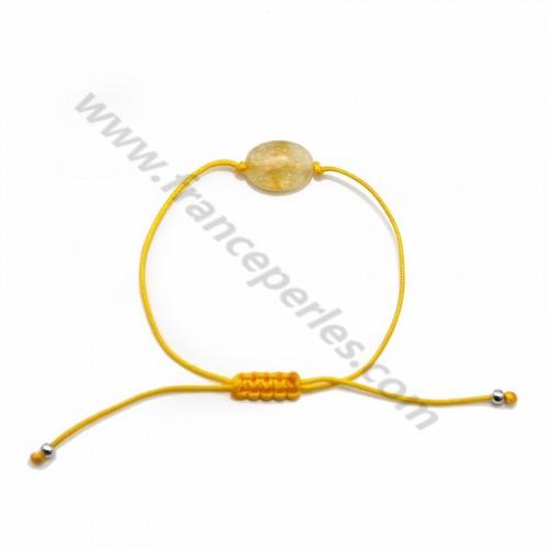 Bracelet cordon Citrine
