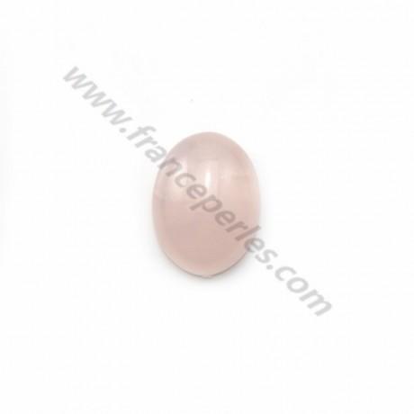 Cabochon Rose Quartz Oval 10*14mm x 1pc