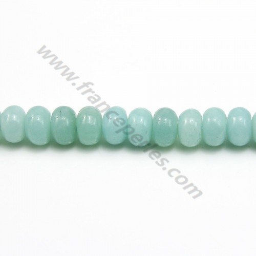 Amazonite Rondelle 5*8mm x 40 cm