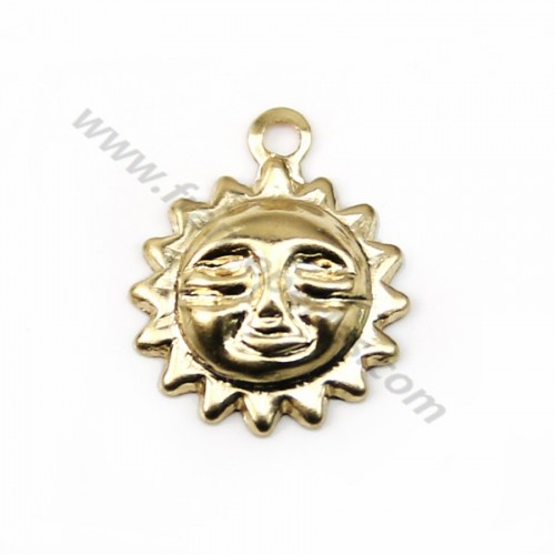 Gold filled sun charm 8mm x 2pcs