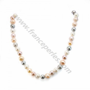 Simple Pearl Freshwater Brown Tint 11MM Necklace Nadia