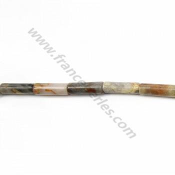 Crazy agate tube 4*13mm x 40cm