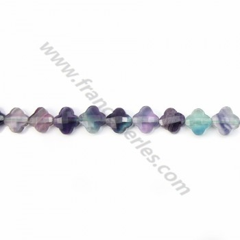 Fluorite clover  faceted 13 mm X 40cm