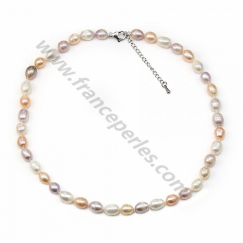White Freshwater Pearl Necklace 11-12mm