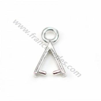 925 silver pendant clip 7.5x11mm x 2pcs