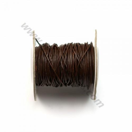 Fil leather brown 1.0mm X 1m