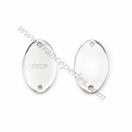 925 sterling silver oval charm to engrave 7x12mm x 1pc