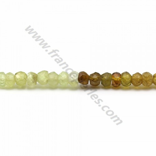 Green agate faceted washer 3.50*4.10mm x 34cm