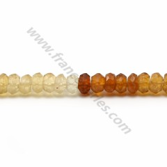 Hessonite rondelle facette 4.5*5mm x 36cm