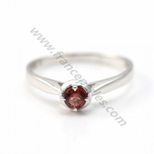 Red tourmaline ring 925 sterling silver, sold by 1pc